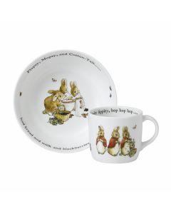 WEDGWOOD - Peter Rabbit Flopsy Mopsy Cott - Set 2-dlg