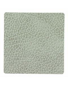 LIND DNA - Glass Mat Square - Onderzetter 10cm Hippo Olive Green