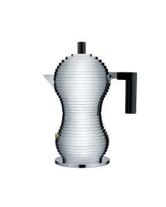 ALESSI - Pulcina - Perculator 3 kops Zwart