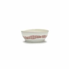 SERAX - Feast by Ottolenghi - Kom L 17x17cm wit Swirl-Stripes roo