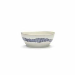 SERAX - Feast by Ottolenghi - Kom L 17x17cm wit Swirl-Stripes bla