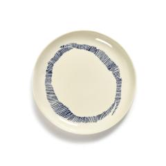 SERAX - Feast by Ottolenghi - Bord S 19x19cm wit Swirl-Stripes bl