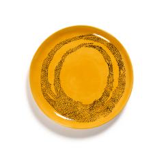 SERAX - Feast by Ottolenghi - Bord M 22x22cm Sunny Yellow Swirl-D
