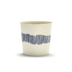 SERAX - Feast by Ottolenghi - Koffiekopje 0,25l wit Swirl-Stripes