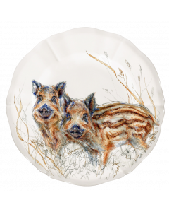 GIEN FRANCE - Sologne - Ontbijtbord 23cm Zwijntjes