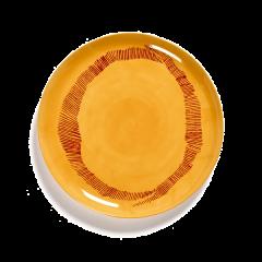 SERAX - Feast by Ottolenghi - Bord L 26x26cm Sunny Yellow Swirl-S