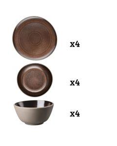 ROSENTHAL - Junto Bronze - Serviesset 4 persoons 12-dlg