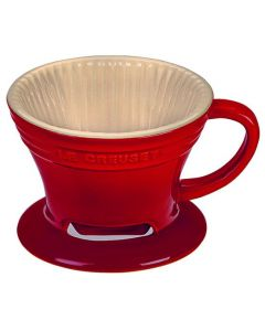 LE CREUSET - Aardewerk - Koffiefilter Rood