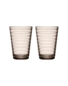 IITTALA - Aino Aalto - Glas 0,33l Linen set/2