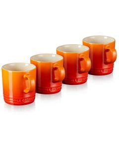 LE CREUSET - Aardewerk - Mok s/4 0,35l Oranje