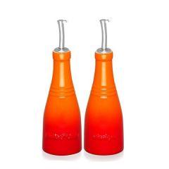 LE CREUSET - Aardewerk - Olie- en azijnset 0,24l Oranje