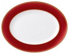 WEDGWOOD - Renaissance Red - Vleesschaal ovaal 35cm