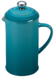LE CREUSET - Aardewerk - Koffiepot met pers Caribbean Blue