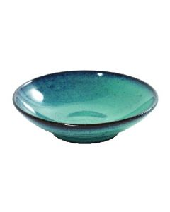 SERAX - Aqua - Schaaltje plat 15cm h3,5 turquoise
