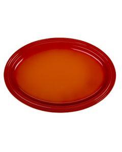 LE CREUSET - Aardewerk - Ovale serveerschaal 46cm Oranje