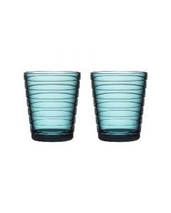 IITTALA - Aino Aalto - Glas 0,22l zeeblauw set/2