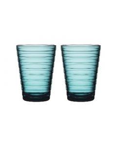 IITTALA - Aino Aalto - Glas 0,33l zeeblauw set/2