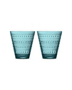 IITTALA - Kastehelmi - Glas 0,30l set/2 Zeeblauw