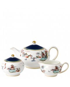 WEDGWOOD - Wonderlust - Teapot, Sugar & Cream Set