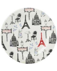 GIEN FRANCE - Ca C'est Paris - Gebakbordje Eiffeltoren Rood
