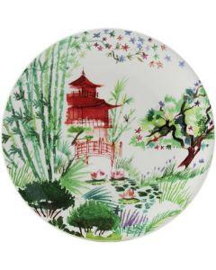 GIEN FRANCE - Jardin Extraordinaires - Gebakbordje 17cm Rouge Jardins