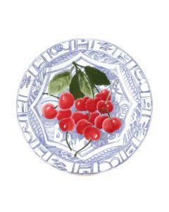 GIEN FRANCE - Oiseau Bleu Fruits - Ontbijtbord 21,8cm Cherry