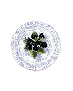 GIEN FRANCE - Oiseau Bleu Fruits - Gebakbordje 16,5cm Blackberry