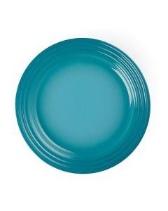 LE CREUSET - Aardewerk - Ontbijtbord 22cm Caribbean Blue