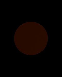 LIND DNA - Glass Mat Circle - Onderzetter 10cm Nupo Dark Brown