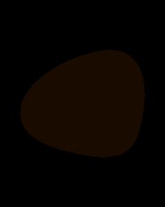 LIND DNA - Dinner Mat Curve - Placemat 37x44cm Nupo Dark Brown