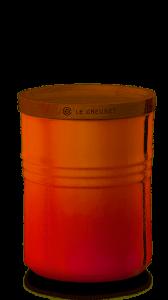 LE CREUSET - Aardewerk - Voorraadpot Oranjerood 10cm 0,54l