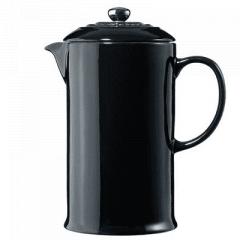 LE CREUSET - Aardewerk - Koffiepot met pers Zwart 22cm