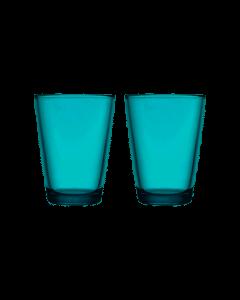 IITTALA - Kartio - Glas 0,40l zeeblauw set/2