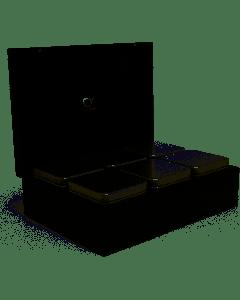 BREDEMEIJER - Universal - Theedoos 6 Blikjes zwart