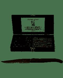 STYLE DE VIE - Laguiole Luxury Line - Steakmes s/6 in kistje RVS