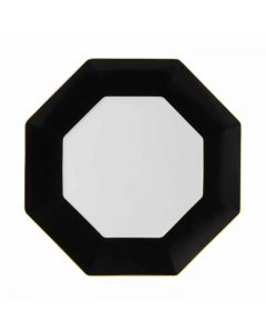 WEDGWOOD - Arris Tableware - Ontbijtbord 23cm achthoekig Charcoa