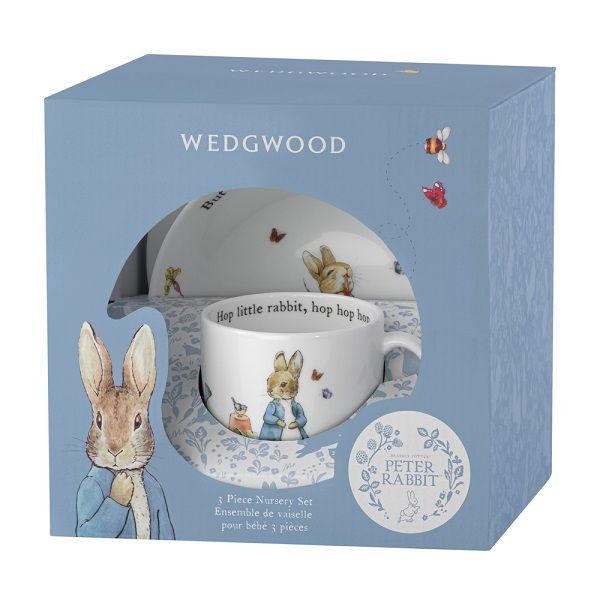 WEDGWOOD - Peter Rabbit - Set 3-dlg