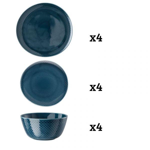 ROSENTHAL - Junto Ocean Blue - Serviesset 4 persoons 12-dlg