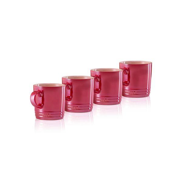 LE CREUSET - Aardewerk - Mok 0,35l s/4 Metallic Rood