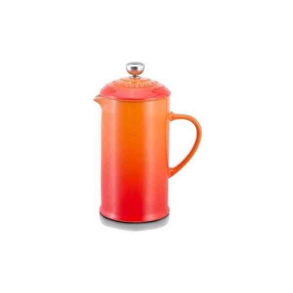 LE CREUSET - Aardewerk - Koffiepot met pers Oranje 0,8L