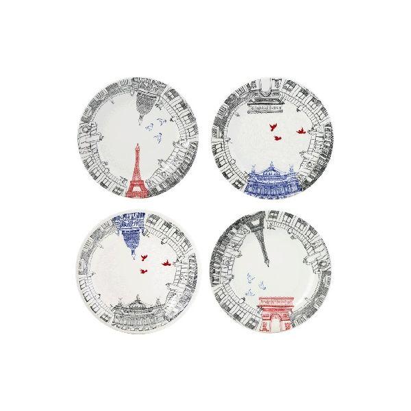 GIEN FRANCE - Ca C'est Paris - Ontbijtborden 22cm Set/4