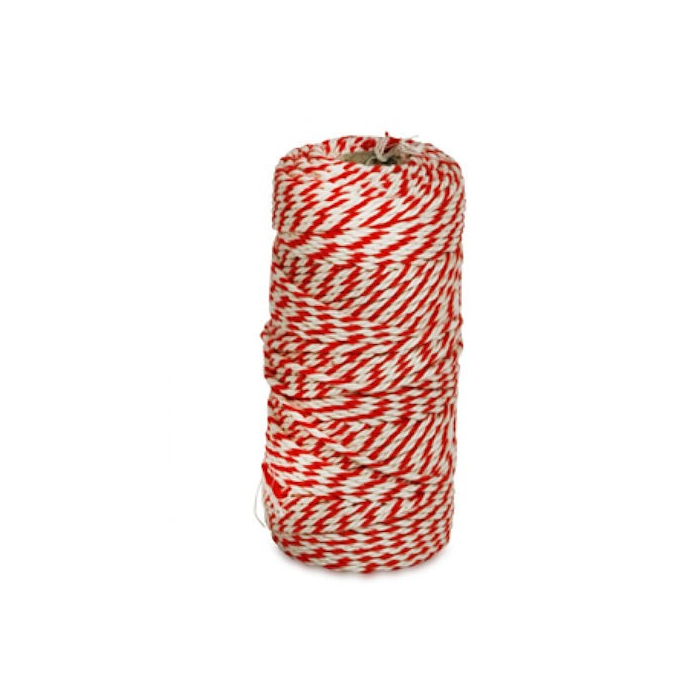 KITCHEN BASICS - Rolladetouw rood/wit 80mtr